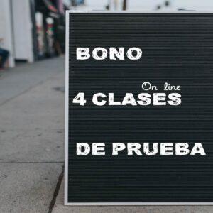 Bono de prueba de 4 clases online