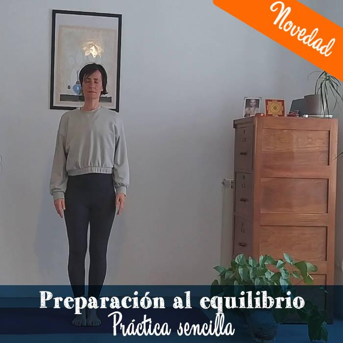 Preparación para las posturas de equilibrio